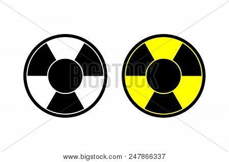 Nuclear Vector Icon Radiation Hazard Sign Alert Danger Symbol. Web Site Page And Mobile App Design V