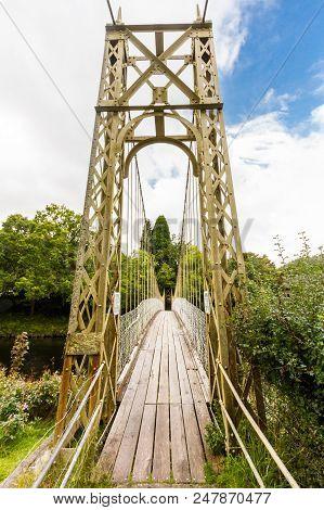 Wooden Suspension Bridge Walkway.