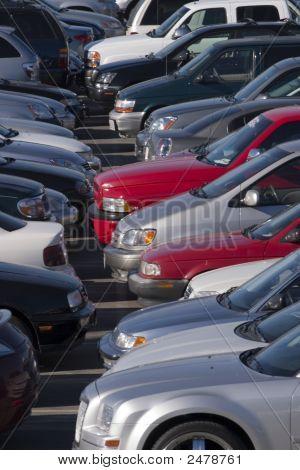 Cars Onn A Open Parking Lot