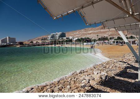 Dead sea beach view