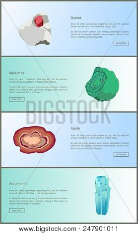 Garnet And Malachite, Agate And Aquamarine Minerals, Mineral Crystallizes In Monoclinic Crystal Syst