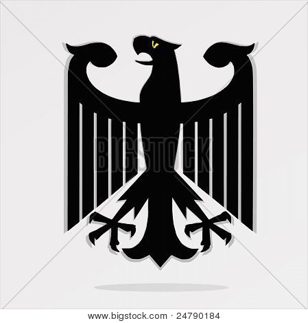 The figure shows the figure of an eagle