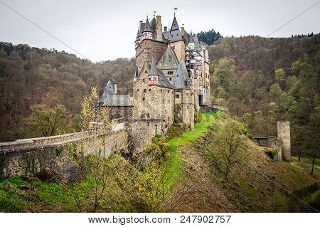 Eltz Castle Is A Medieval Castle Nestled In The Hills Above The Moselle River Between Koblenz And Tr