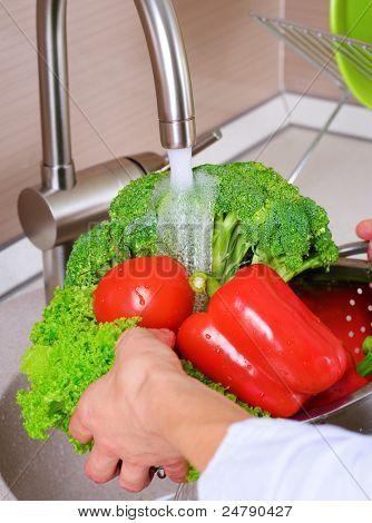 Fresh Vegetables Washing