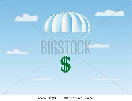 The Dollar Flies On A Parachute