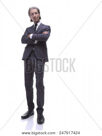 bottom view.confident young businessman.