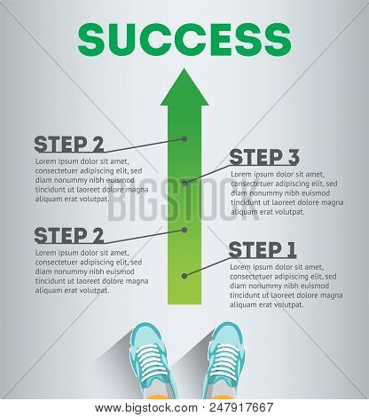 Success. Business Infographic Template. Business Concept. Infographic Success. Steps Of Success. Ste