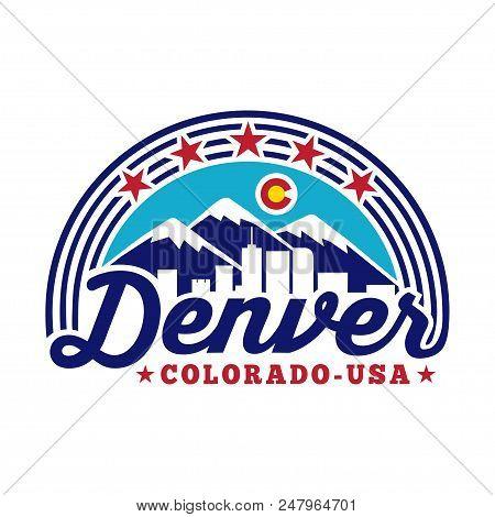 Denver Colorado Logo. Vector And Illustration Logo Design.