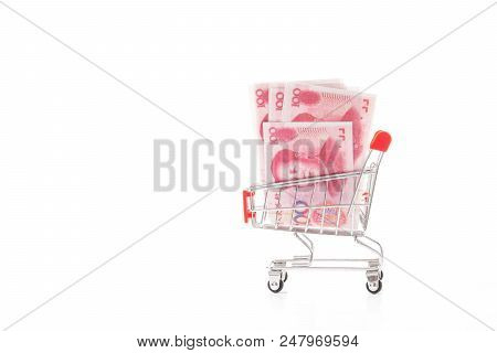 Chinese Banknotes, Chinese Yuan, Cny, Renminbi, Rmb(people's Replublic Of China Money) In Small Shop