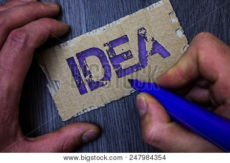 Text Sign Showing Idea. Conceptual Photo Creative Innovative Thinking Imagination Design Planning So