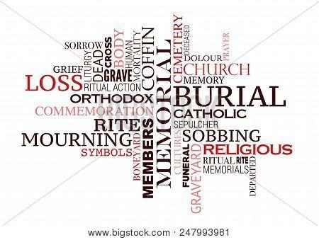 Funeral Word Cloud Vector Photo Free Trial Bigstock