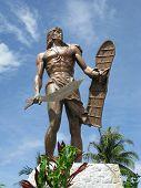Monument of a Filipino chieftain Lapu-Lapu located in Mactan Island, Cebu, Philippines. poster