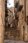 street of the village of Horta de Sant Joan,Terra Alta, Tarragona province, Catalonia,Spain poster