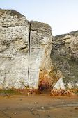 A Vertical Cliff-face Fissure at Blast Beach, Dawdon poster