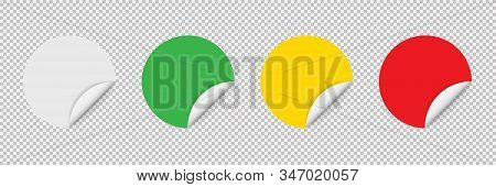 Sticker Tag Colored In Realistic Design. Vector Isolated Illustration. Post Note Sticker Vector. Bla
