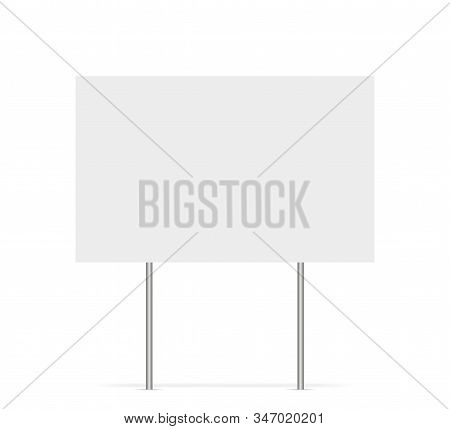 Yard Sign Vector Isolated Blank Element. Copy Space. Horizontal Advertising Banner. Mockup Horizonta