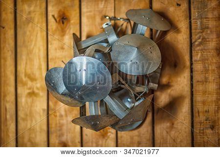Protective Metal Rain Hood For Chimney. Rain Protection For Chimney.