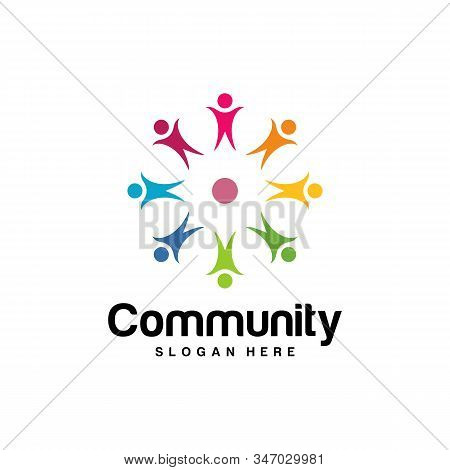 Community Logo Design Inspiration Vector Template, Social Relationship Logo And Icon, Adoption Care