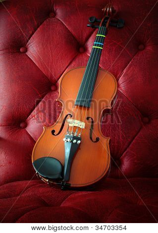 classic violin on background in studio light poster