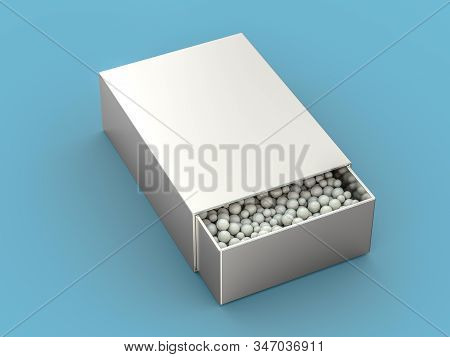 Alternative Homeopathy Medicine Herbs, Healtcare And Pills Concept. 3d Rendering