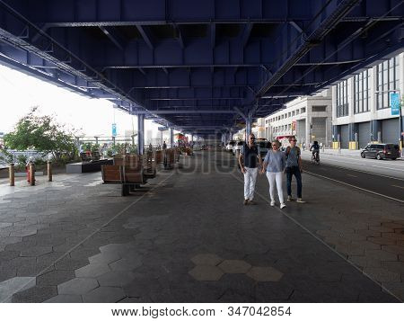 New York, Usa - May 31, 2019: Image Taken Underneath The Fdr Drive Near Pier 11 In Manhattan.