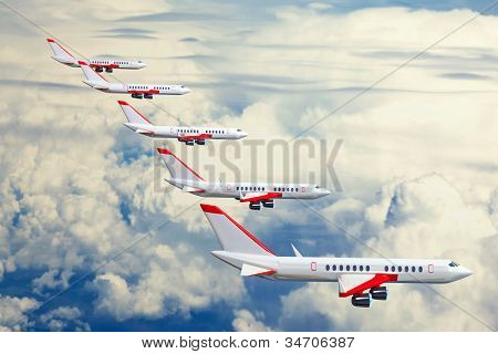 Aircraft Flying In Range