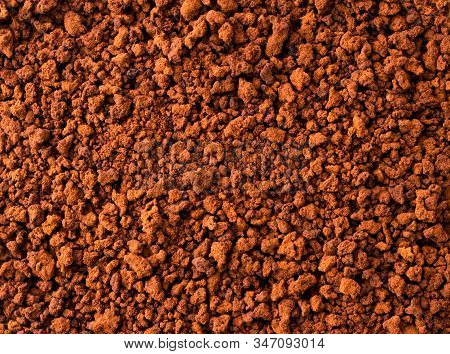 Granular Instant Coffee, Background. The View Of The Top