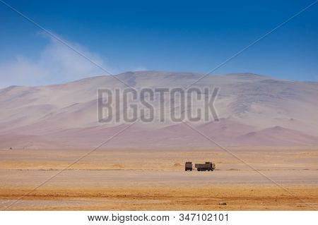 Trucks On The Road, Paracas National Reserve
