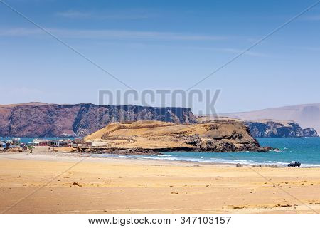 Paracas National Reserve, Colorful Sands, Desert Hills, Viewpoint On Near The Red Beach Playa Roja,
