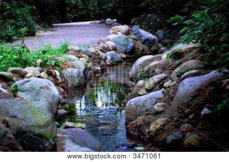 River framed in stones