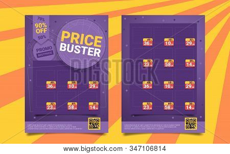 Bright Price Buster, Promo Best Price, Cartoon. Search For Low Prices, Product Overview, Discounts A