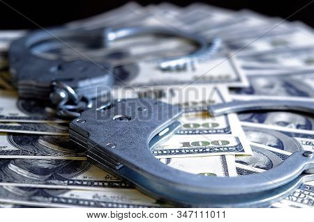 High-profile Arrest Of A High-ranking Official For Bribery. Money And Handcuffs. Law And Crime. Illi