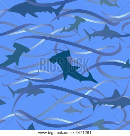 Sharks And Waves Background