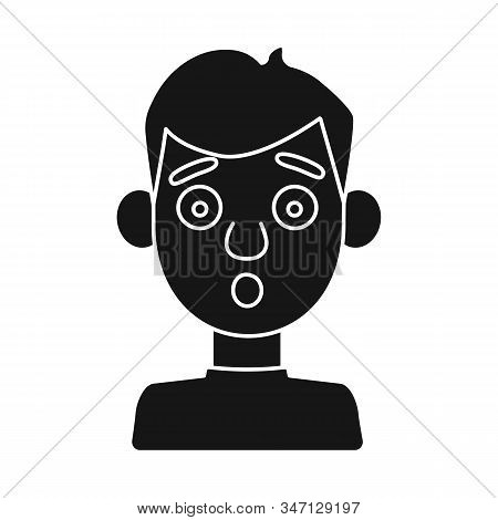 Vector Illustration Of Guy And Fright Icon. Set Of Guy And Surprise Stock Vector Illustration.