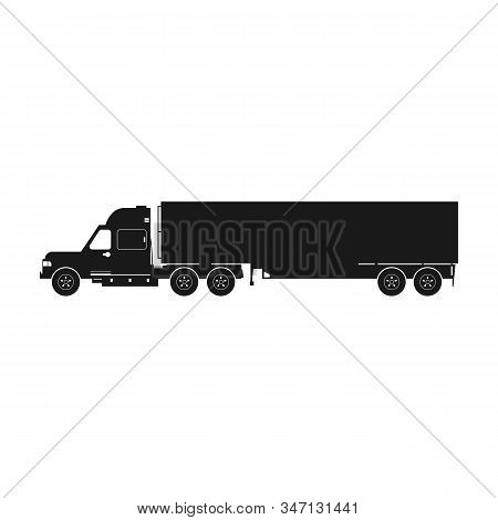 Truck Vector Icon.black Vector Icon Isolated On White Background Truck .