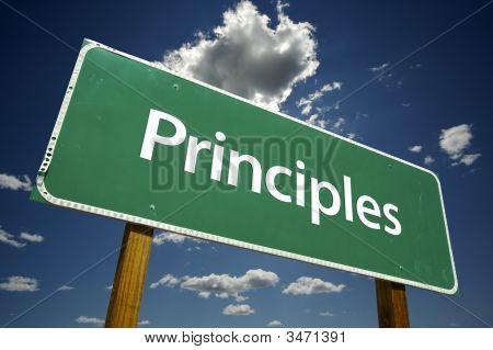 Principles Road Sign