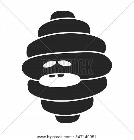 Germ Of Bacteria Vector Icon.black, Simple Vector Icon Isolated On White Background Germ Of Bacteria