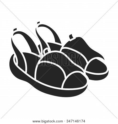 Summer Sandal Vector Icon.black Vector Icon Isolated On White Background Summer Sandal .