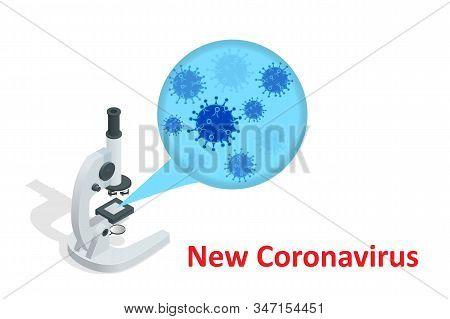 China Battles Coronavirus Outbreak. Coronavirus Outbreak, Travel Alert Concept. The Virus Attacks Th