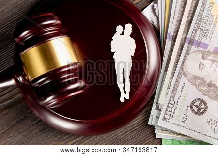 Child Support Of Alimoney. Divorce Concept. Alimoney Payment.