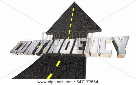 Contingency Emergency Back Up Plan B Road Arrow 3d Illustration