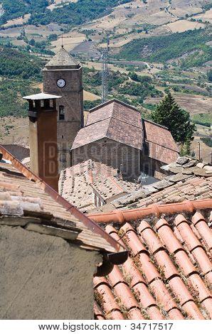 View of Pietrapertosa. Basilicata. Italy.