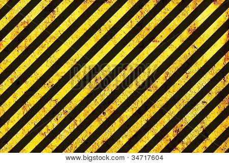 Grunge Black And Orange Surface As Warning Or Danger Pattern