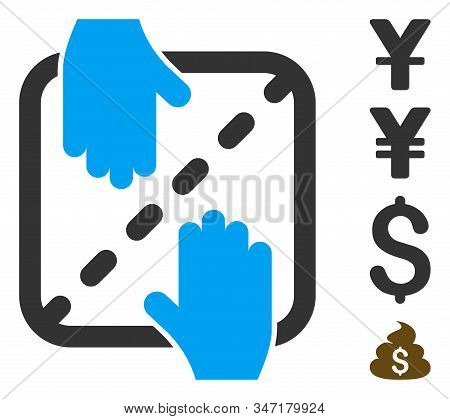 Authorized Shares Icon. Illustration Contains Vector Flat Authorized Shares Pictograph Isolated On A