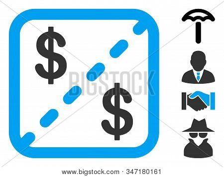 Financial Shares Icon. Illustration Contains Vector Flat Financial Shares Pictograph Isolated On A W