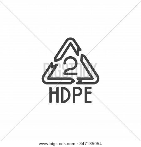 High-density Polyethylene Line Icon. Linear Style Sign For Mobile Concept And Web Design. Hdpe 2, In