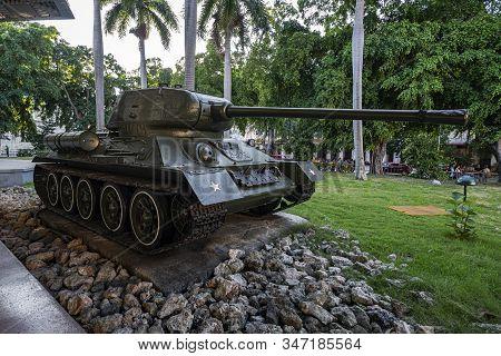 November 27, 2019, Havana, Cuba: Soviet Tank T-34 In Museum Of The Revolution In Havana.