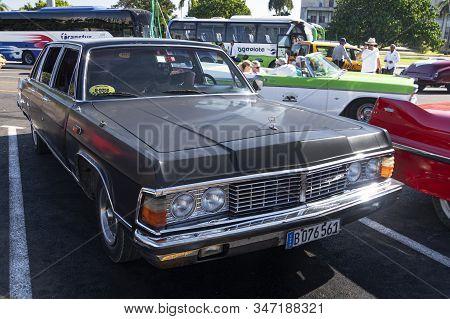 November 27, 2019, Havana, Cuba: Gaz 14 Chaika, A Government Car Donated By Brezhnev To Fidel Castro