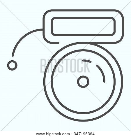 Buzzer Thin Line Icon. Mechanical Ring Vector Illustration Isolated On White. School Bell Outline St