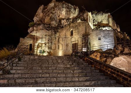 Church Of Santa Maria Di Idris In The Sassi Di Matera A Historic District In The City Of Matera. Bas